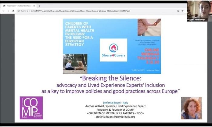 Genç Hasta Bakıcılar farkındalığı için Uluslararası Webinar eğitimi