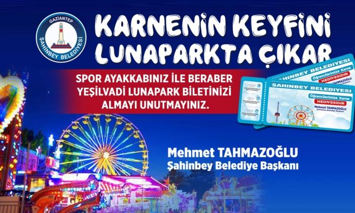Tahmazoğlu'ndan öğrencilere Lunapark bileti