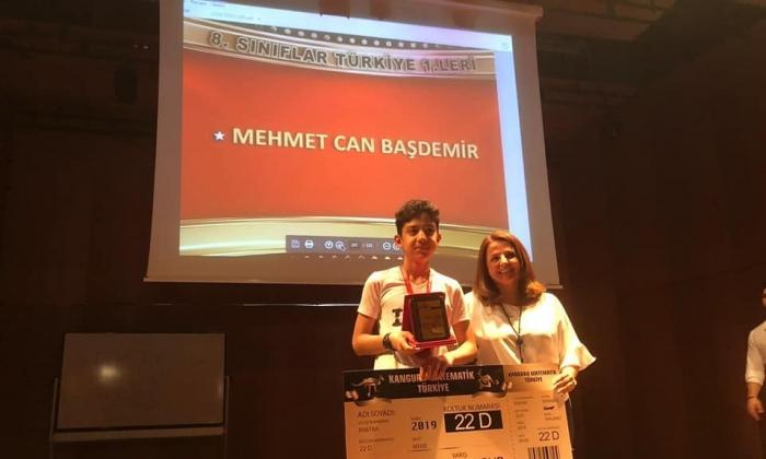 Seçkin Koleji öğrencisi Türkiye birincisi