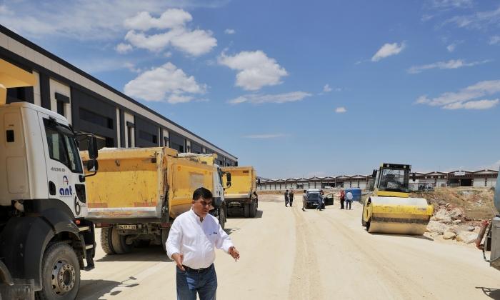 Fadıloğlu KÜSGET asfalt çalışmalarını inceledi